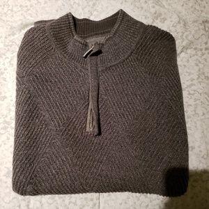 XL Dark Gary Tommy Bahama Half-Zip Sweater